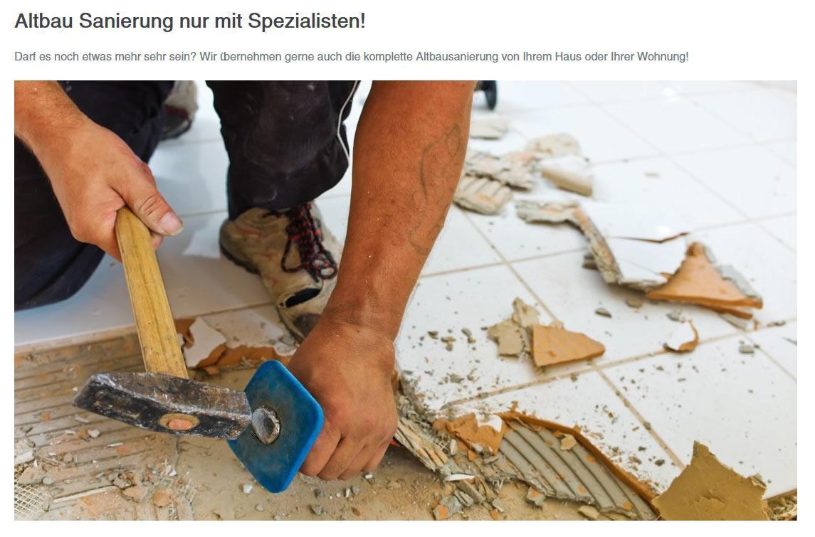 Altbausanierung, wir sanieren Ihren Altbau aus  Bochum