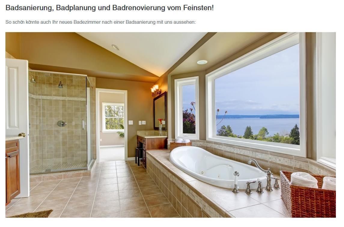 Badsanierung, Badrenovierung