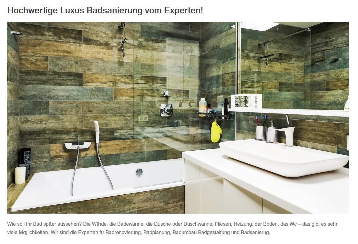 Badsanierung Experten aus Rohr