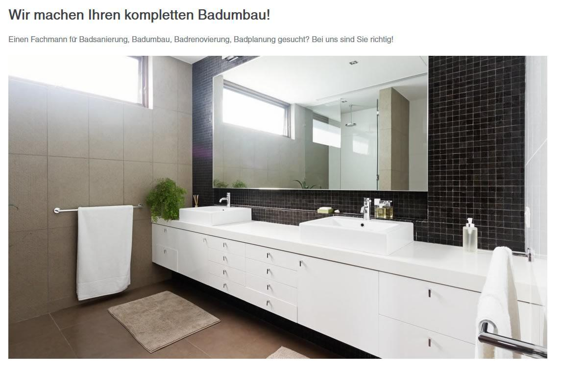 Badumbau und Komplettumbau in  Bochum