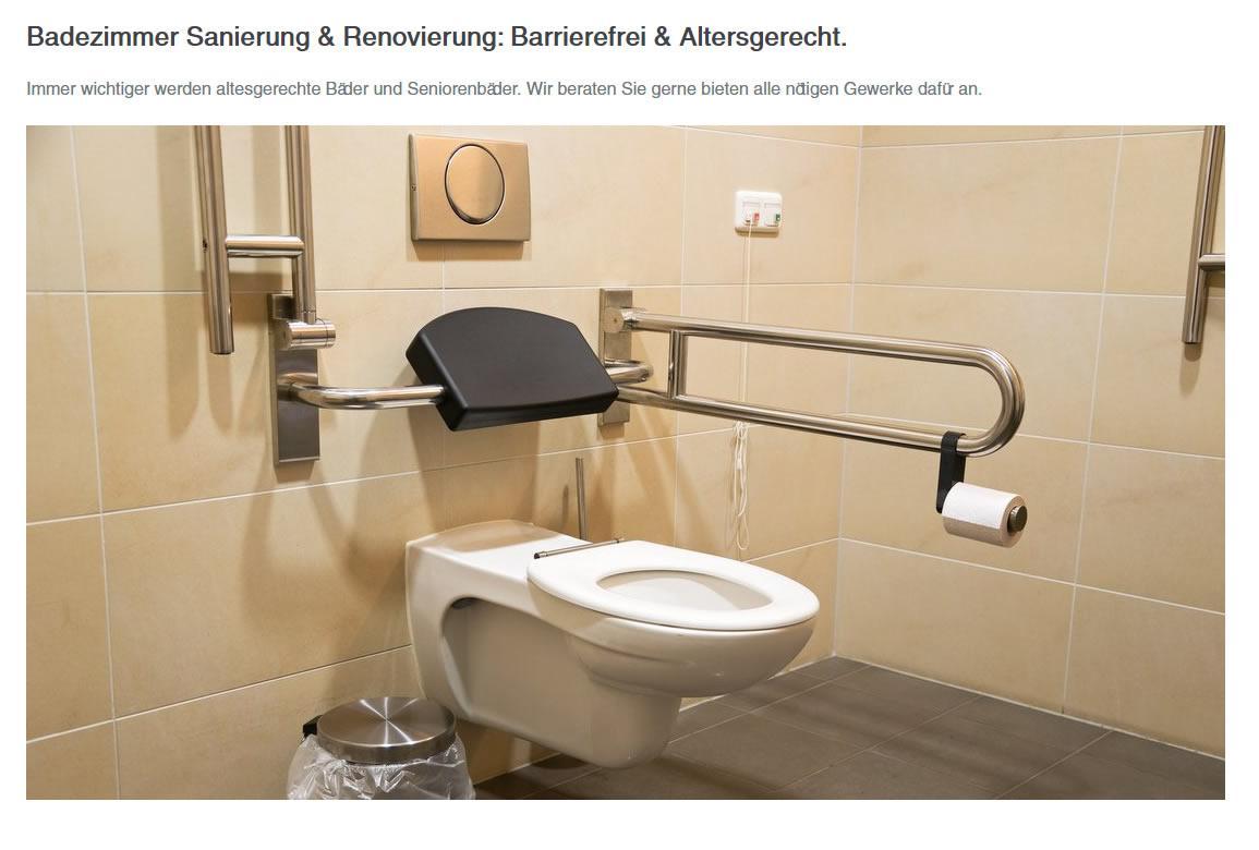 Barrierefreie und altersgerechte Badezimmer