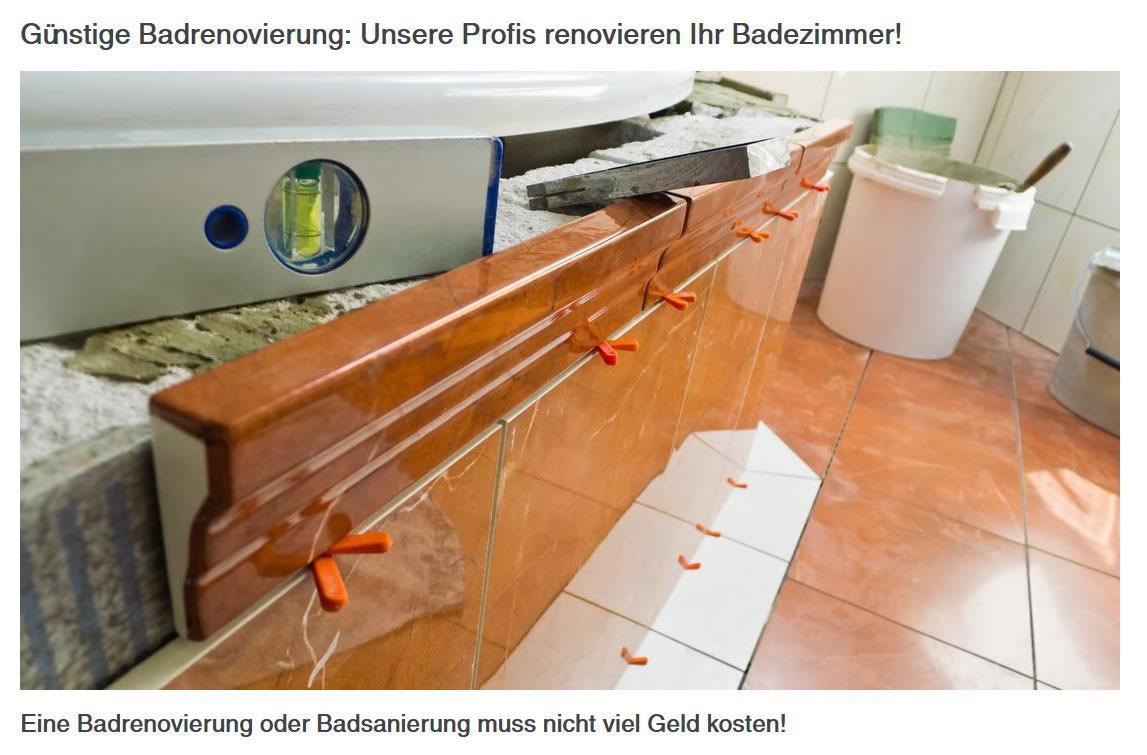 günstige Badrenovierung für  Hannover
